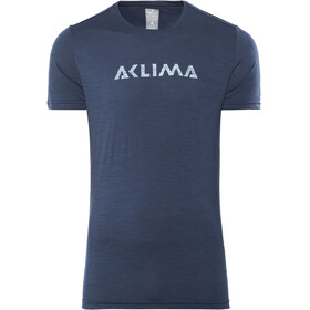 Aclima Lightwool Logo Shortsleeve Shirt Men blue